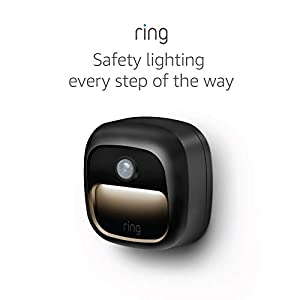 Ring Smart Lighting – Steplight, Battery-Powered, Outdoor Motion-Sensor Security Light, Black (Ring Bridge required)