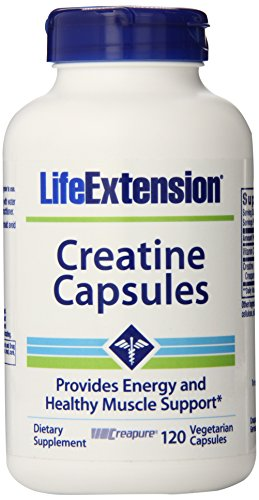 Life Extension Creatine Vegetarian Capsules, 120 Count