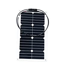 ALEKO® 20W 20-Watt Semi Flexible Solar Monocrystalline Panel 12V Solar Module Power System
