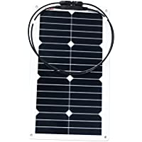 ALEKO 20W 20-Watt Semi Flexible Solar Monocrystalline Panel 12V Solar Module Power System