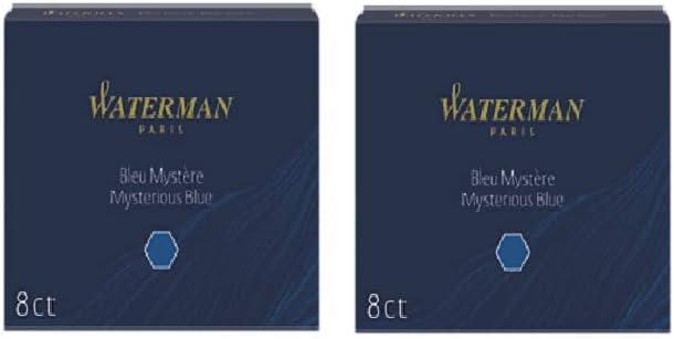 Cartuchos De Tinta Estándar Grandes Waterman Misteriosa Azul (Azul Negro) - 4 x Caja de 8: Amazon.es: Oficina y papelería