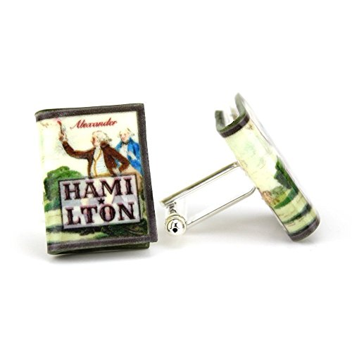 Alexander HAMILTON Clay Mini Book Cufflinks by Book Beads -