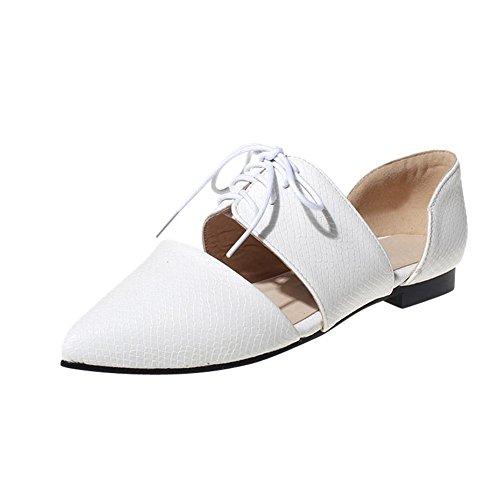 Show Shine Womens Fashion Pointed Toe Flats Shoes White VQVYql