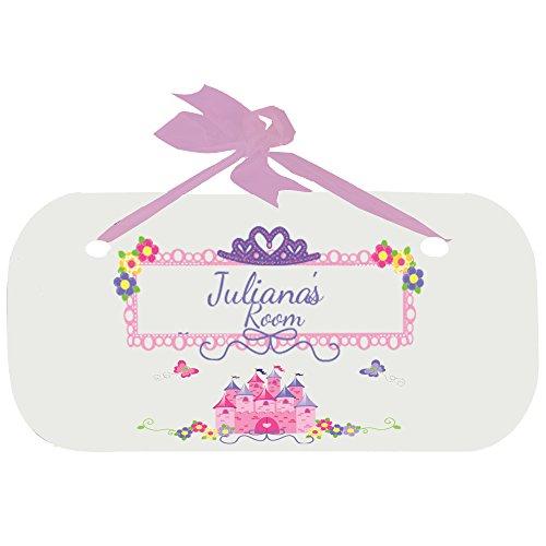 Personalized Princess Castle Door Hanger Plaque