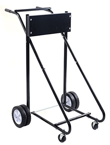 K&A Company Outboard Boat Motor Stand Carrier Cart Dolly Storage Pro Heavy Duty Wheels Caddy 315 - Motor Caddy