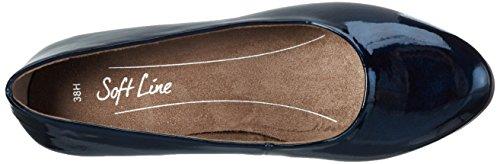 Softline 22360, Zapatos de Tacón para Mujer Azul (NAVY MET. PAT. 801)