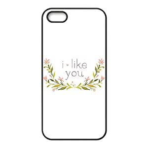 I like you with flowers personalized high quality cell phone case for Iphone 6 4.7