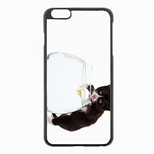 iPhone 6 Plus Black Hardshell Case 5.5inch - tongue fish aquarium background Desin Images Protector Back Cover