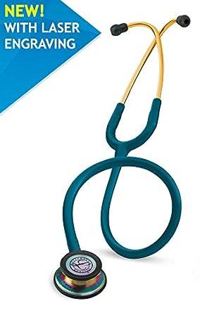 Fonendoscopio 3M™ Littmann® Classic III™ con grabado láser gratuito - Azul caribe Arco iris 5807