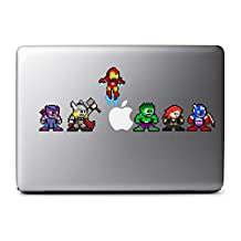 8-Bit Superhero Set Decals for MacBook, iPad Mini, iPhone 5S, Samsung Galaxy S3 S4, Nexus, HTC One, Nokia Lumia, Blackberry