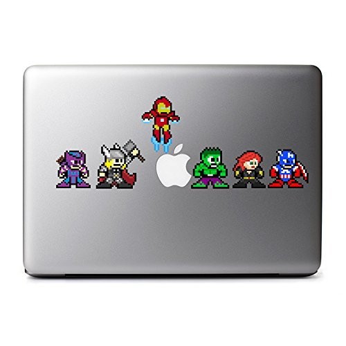 (8-Bit Superhero Set Decals for MacBook, iPad Mini, iPhone 5S, Samsung Galaxy S3 S4, Nexus, HTC One, Nokia Lumia,)