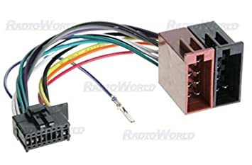 41LPyJZmQlL._SX355_ iso wiring harness connector adaptor for pioneer 16 pin amazon co wiring harness connectors at alyssarenee.co