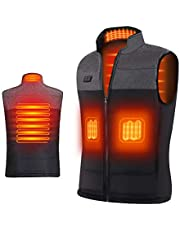 Ejoy Heated Vest - Heating Vest for men with USB warm clothes for women's heat jacket sleeveless coats(no battery pack )