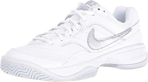 NIKE Court Lite Womens Tennis Shoe (8.5 C US, White/Metallic Silver)