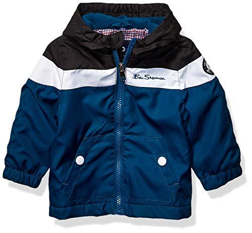 Ben Sherman Baby Boys Midweight Jacket, Chest Stripe Sailor Blue, 12M