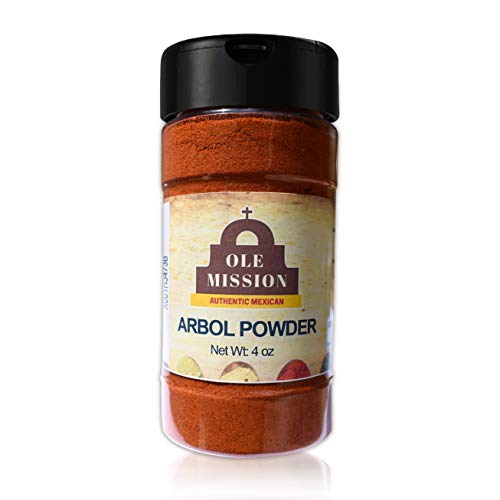 Chile De Arbol Powder Mix 4 oz With Red Chili Peppers Bulk All Natural No Salt Added Great For Mexican Recipes by Ole Mission