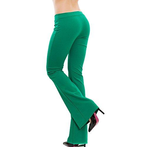 Verde Pantaloni AS nuovi 2462 aderenti Toocool campana donna elasticizzati zampa hot elefante ZPnqg4Ow