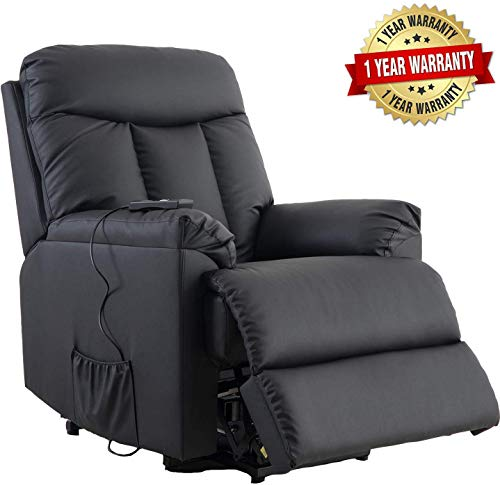 Lift Chairs for Elderly - Lift Chairs Recliners Lift Chairs Sofa Electric Recliner Sofa with Remote Control Soft PU Lounge (Recliner Chair Lift)