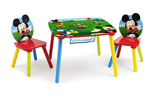 Disney Mickey Mouse Storage Table and Chairs Set (Set Table Mickey Mouse)