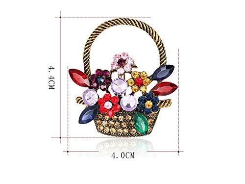 Decoartion - Broche clásico para Cesta de Flores, para Boda, Novia, Regalo para Mujer (Colorido), Colorido, 4x4.4cm, 1