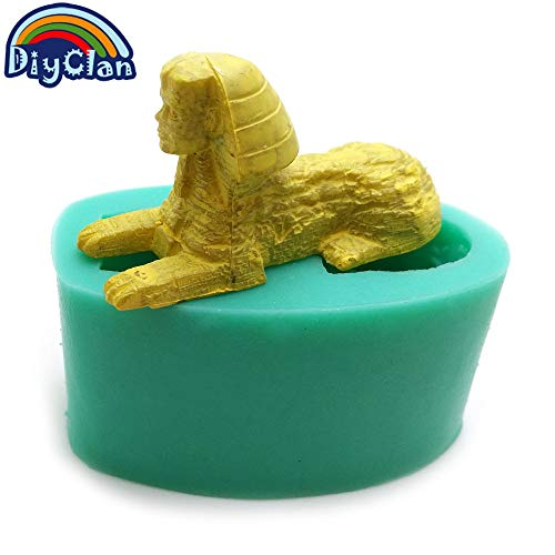 Laliva Sphinx silicone mold Egypt style cake decoration tools Halloween Mummy polymer clay chocolate fondant silicone mold ()
