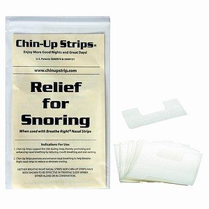 (ChinUp Strips reduce loud snoring of men with short beards or women with oily skin. Over 9 Million Chin Up Strips have been used worldwide to reduce snoring and help people sleep in peace.)