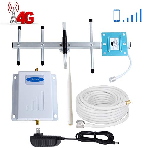 (Verizon Cell Phone Signal Booster 4G LTE Phonelex Cell Signal Booster Verizon Cell Phone Signal Amplifier Mobile Phone Signal Booster Repeater Band13 700Mhz FDD with Whip+Yagi Antenna Kits for Home )