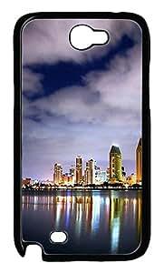 San Diego Skyline 4 Polycarbonate Hard Case Cover for Samsung Galaxy Note II N7100¨CBlack