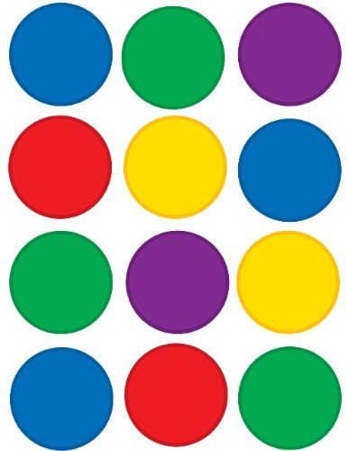 Teacher Created Resources Circles Mini Accents, Colorful ()