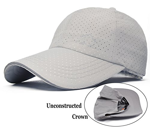 Ellewin Unisex Outdoor Quick Dry Adjustable Baseball Cap (A-Light - Running Custom Visors
