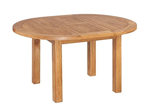 Trithi Furniture Oakwego American Solid Oak Oval Extendable Table (Light Dark Oak) (Round 42 Dining Table Extendable)