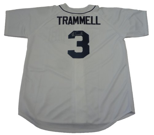 Alan-Trammell-Autographed-Detroit-Tigers-Jersey-WPROOF-Picture-of-Alan-Signing-For-Us-Detroit-Tigers-World-Series-Champions-World-Series-MVP-Gold-Glove-All-Star-San-Diego-Padres-Chicago-Cubs-Arizona-D