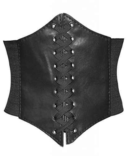Alivila.Y Fashion Faux Leather Steampunk Sexy Underbust Waist Belt Corset 3