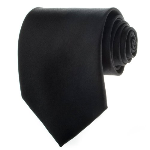 Solid Black Men's Necktie