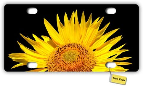 Tobe Yours License Plate Cover Sunflower Printed Auto Truck Car Front Tag Metal License Plate Frame Cover 6x12
