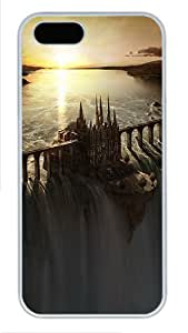 Castle On The Waterfall Fantasy PC Case Cover Protector for iPhone 5 and iPhone 5S White