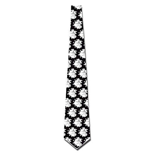 DaDaPAN Custom Cartoon Bulldog Retro Skinny Neckties Bulldog Tie