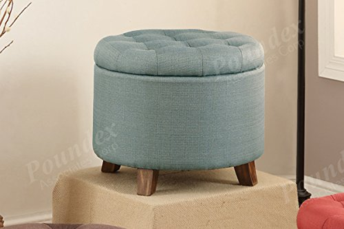Poundex B0183K9SCY Ottoman, Light Blue