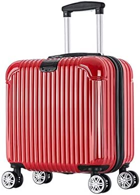BXDYA トラベルスーツケース男性と女子学生のパスワードトロリーケースユニバーサルホイール搭乗レザーボックススーツケース (Color : Red)