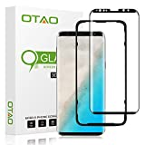Galaxy S8 Screen Protector Tempered Glass, [Update Version]OTAO 3D Curved Dot Matrix [Full Screen Coverage] Samsung Galaxy S8 Screen Protector with Installation Tray [Case Friendly]