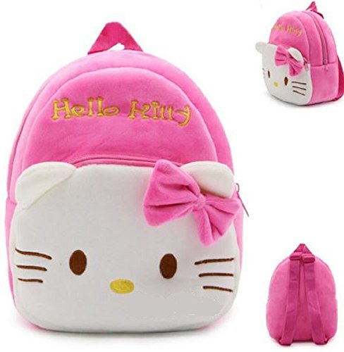 New Cute Plush Hello Kitty Mini Backpack for young Students Ages 3-5 Years old, Generic