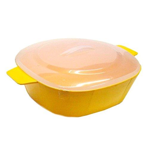 ADITYA INFO™ Microwave Cook, Heat and Serve Square Casserole Small