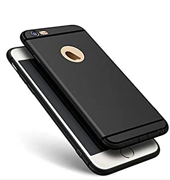 Anzio Logo Cut Back Cover with Anti Dust Plugs for Apple iPhone SE  Black