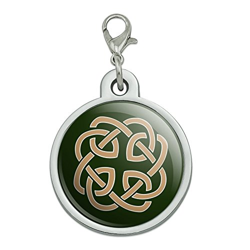 (GRAPHICS & MORE Celtic Knot Love Eternity Chrome Plated Metal Pet Dog Cat ID Tag - Large)