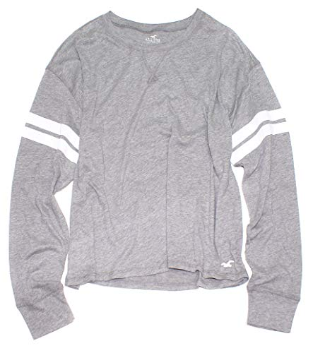 Hollister Women's Must-Have Crop Boyfriend Long Sleeve Thin Tee How-4 (Small, 0111-132) from Hollister Co..