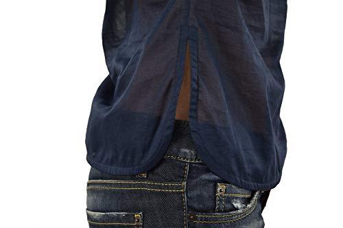 Colore Donna Quattro Blu Camicia Nuovo 42 Dsquared2 Taglia Bottoni wqHFg0T4