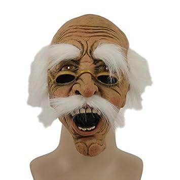 Máscara de abuelo con gafas