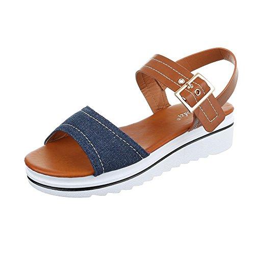 Ital-Design WoMen Roman sandals Blue