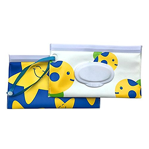 Reusable Wet Wipe Pouch Dispenser,Keeps Wipes Moist,for Baby or Personal Wipes, Eco Friendly Wipe Pouches, Great for Travel (2 pack)