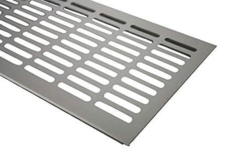 Braun eloxiert L/üftungsgitter Aluminium Stegblech L/üftung 130 mm x 600 mm in Verschiedenen Farben
